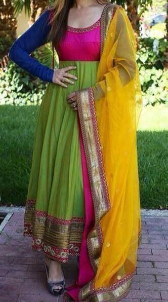 Colorful Anarkali