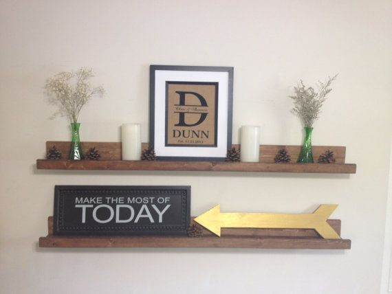Our Rustic Wooden Picture Ledge Shelves saves space & creates an eye catching display for your home or office. Its not only stunning, but