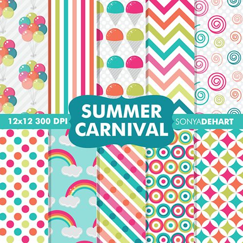 Etsy Digital Designers Summer Freebie Hop!! 35 participating designers giving away FREE clip art and digital papers!