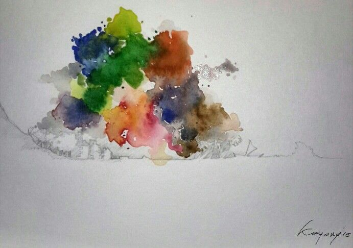 my morning | watercolor on paper