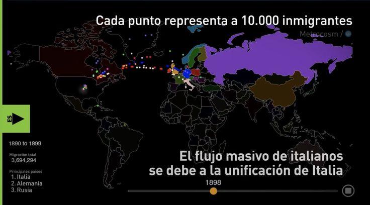Lo Que Enciende Las Redes. 200 Años De Migración A EE.UU. Explicado En Un Interactivo Mapa. Cada Punto Representa A 10 Mil Personas