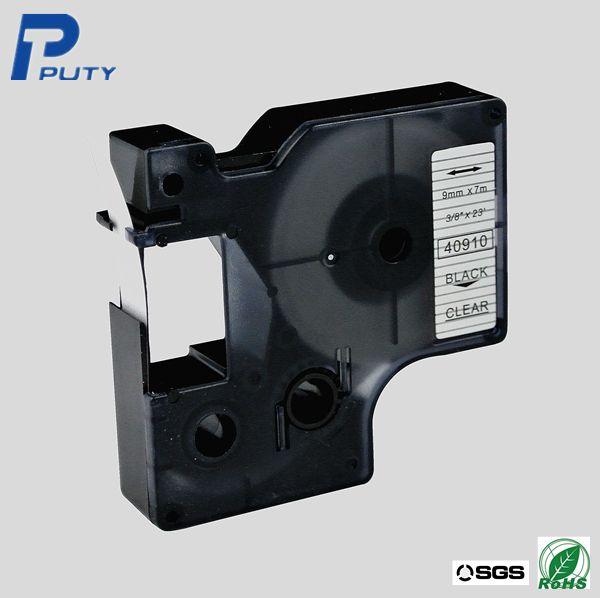 Черный на прозрачном для DYMO машина пишущая машинка лента 9 мм * 7 м DYMO 40910 DYMO D1 этикетки производитель ленты