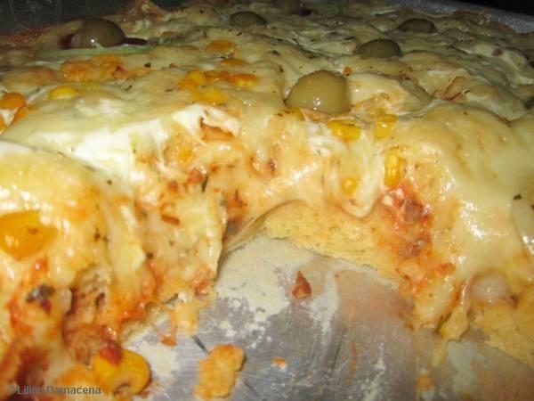Receita de Pizza Rápida de Liquidificador
