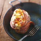 Gepofte aardappelen met gruyère en spek