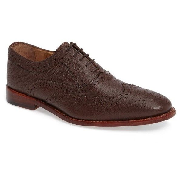 Men's Lotus 'Harry' Wingtip Oxford (9.945 RUB) ❤ liked on Polyvore featuring men's fashion, men's shoes, men's oxfords, oxblood leather, men's wingtip oxford shoes, mens wing tip shoes, mens shoes, mens oxford brogues and mens brogue shoes