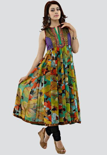 Tropical Floral kurtha   Item code SC13F01 OUT OF STOCK