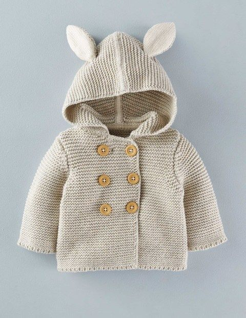 Super-soft knited jacket with super sweet ears for that extra ahh factor. Perfect for keeping your little one warm in the chilly spring breeze.