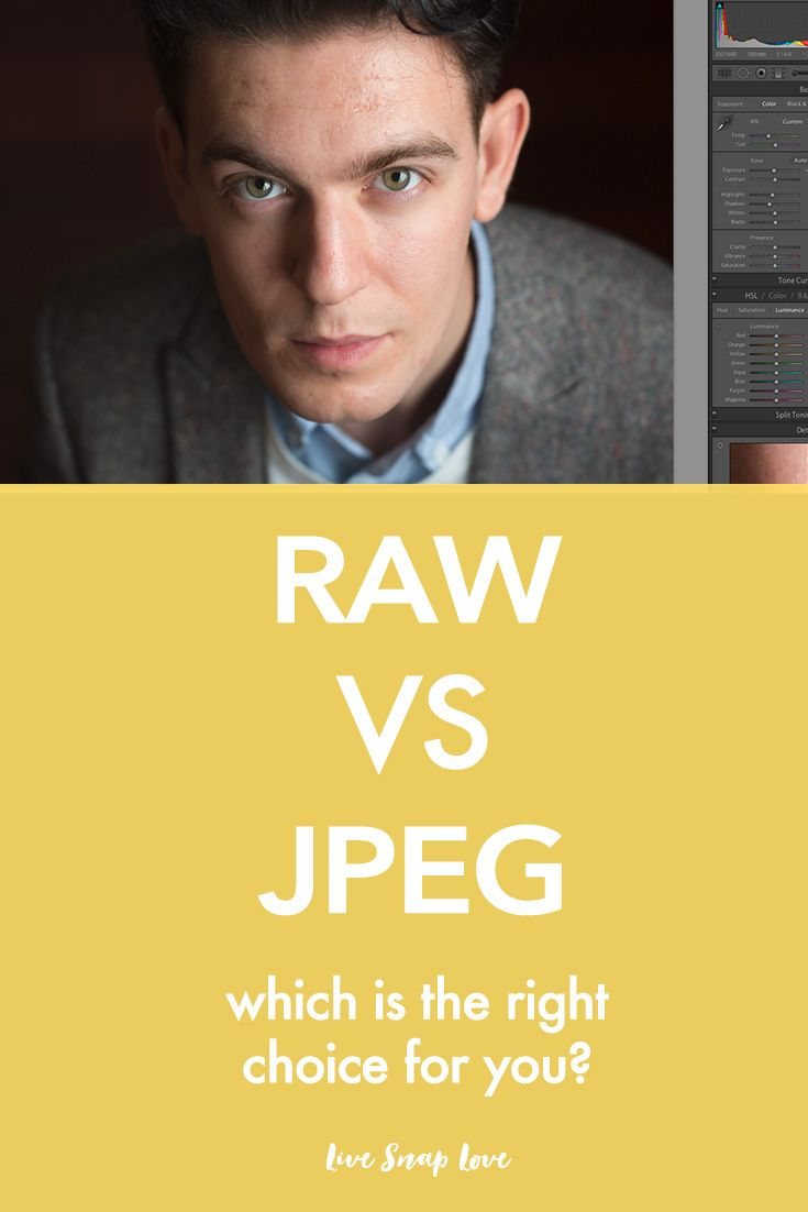 Have you heard photographers say to shoot in RAW but not sure if this is something you should do? Here's a breakdown of the differences between a RAW and a JPEG file, and when it's best to use them!