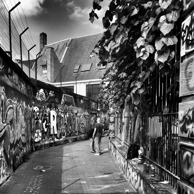 """Street art 1  """"To live a creative life we must lose our fear of being wrong"""" #PietroParodi #blackandwhite"""