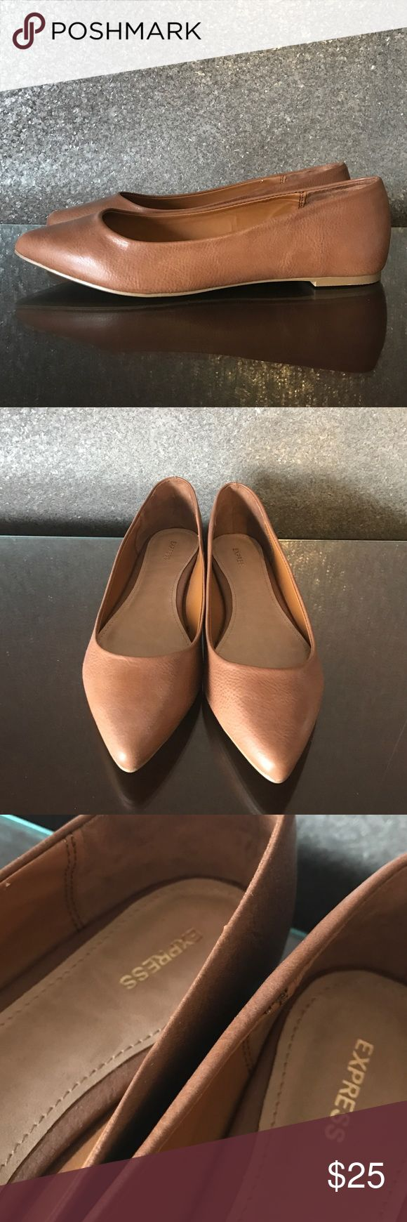NWOT Express Brown Pointed Toe Flats Brown pointed toe flats. I purchased NEW from Express.com. Size 8. Brown lining. Brand new, never worn. Express Shoes Flats & Loafers