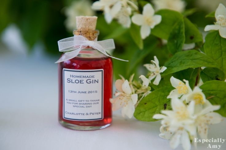 Personalised favours | Sloe Gin | Especially Amy