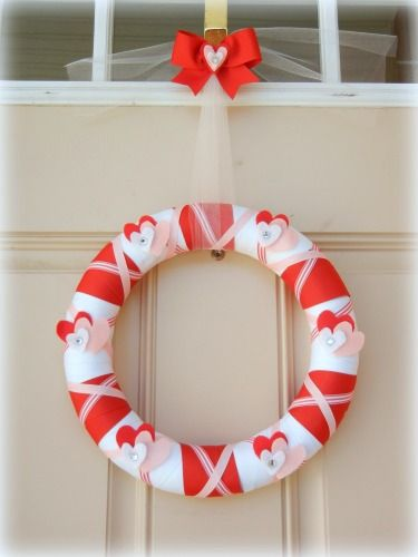 Wrapped Ribbon Wreath