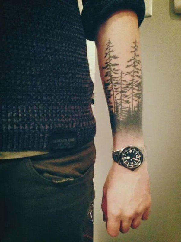 forest forearm tattoo-7