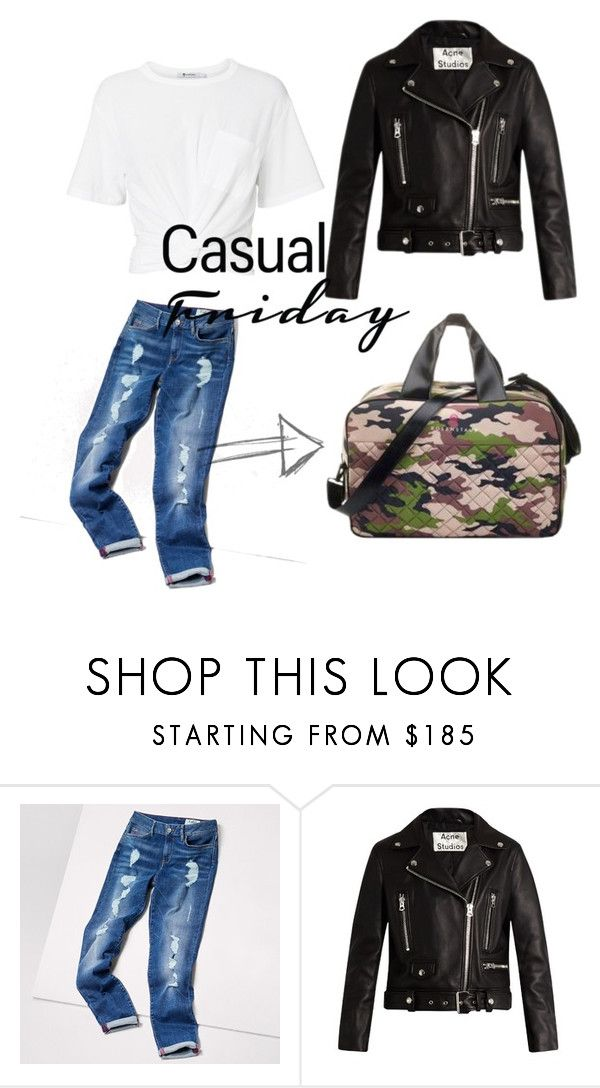 """Neoprene Bag Camouflage Casual Friday"" by rosenstaub on Polyvore featuring Mode, Tommy Hilfiger, Acne Studios und T By Alexander Wang"