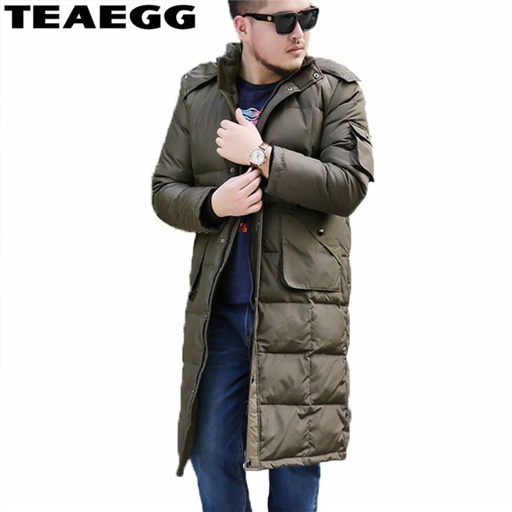 TEAEGG Winter Coat Men's Down Jacket 5XL 6XL 7XL 8XL White Duck Down Jacket For Men 2017 Chaqueta <font><b>Pluma</b></font> Hombre Warm Parkas AL273