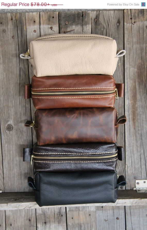 OHH LA LA 25% off hand made leather toiletry bags for men and women!!