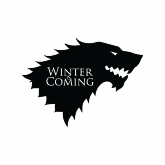 Stark Wolf Sigil w/ Motto Inside - Game of Thrones Vinyl ...