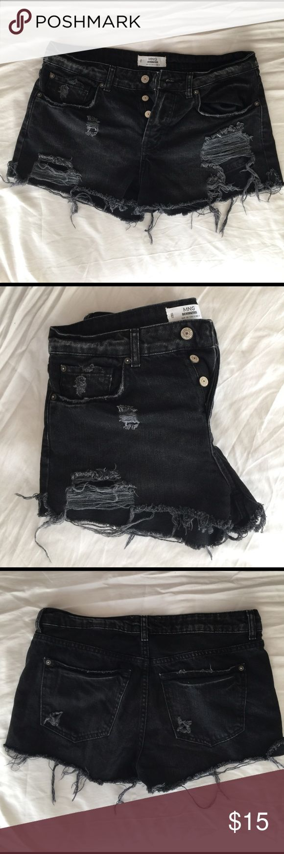Mango cut off distressed shorts Barely used Mango Shorts Jean Shorts