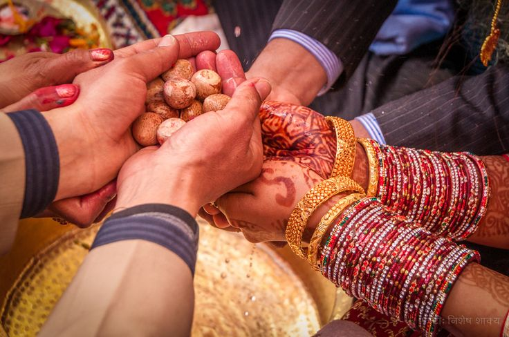 Kanyadaan is a wedding ritual in Hindu religion. Kanyadaan is the moment when the father of the bride hands over all his rights and responsibilities towards his daughter to the groom.