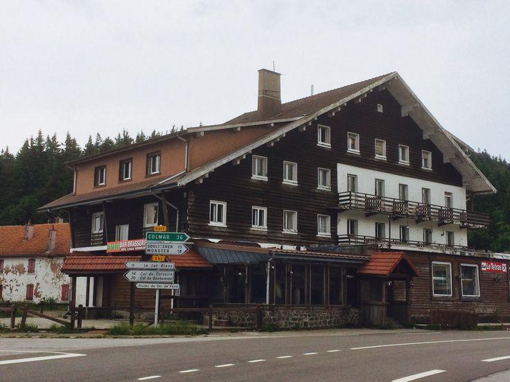 Col de la Schlucht; voor het hotel linksaf richting Col de Bonhomme