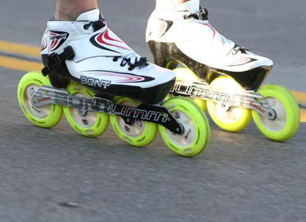 Would love to fly on skates like these for the inline marathon I'm skating in September. . .probably a bit fast for me. I'd like to make it out alive.