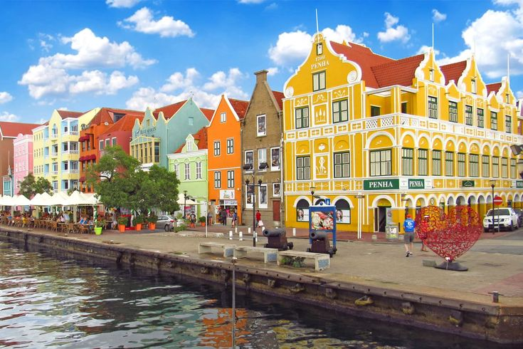 A view from Queen Emma Bridge, Willemstad, Curacao