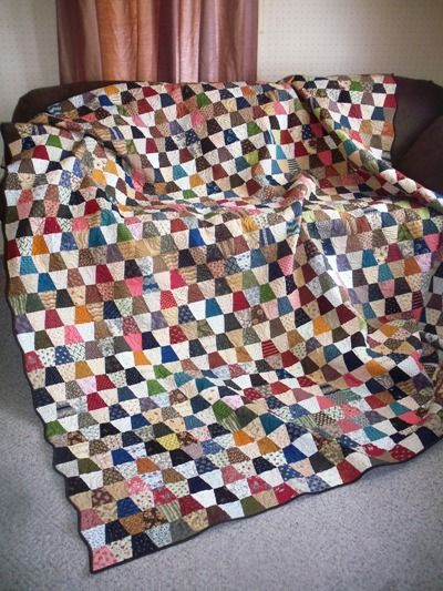 Tumbler Quilt - Jo's Country Junction - love the fabrics and colors in this