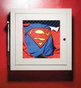 Superman suit - break in case of emergancy