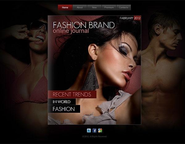beautiful theme for fashion web