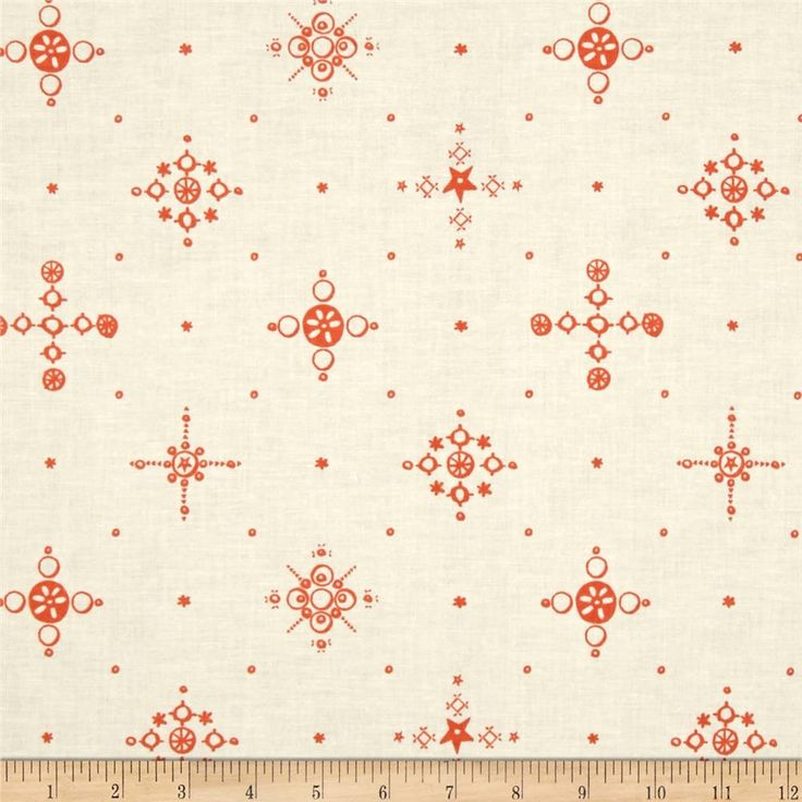 Cotton & Steel Clover Cafe Cup Persimmon from @fabricdotcom  Designed by Alexia Marcelle Abegg for Cotton + Steel, this cotton print is perfect for quilting, apparel and home decor accents. Colors include orange-coral and ivory.
