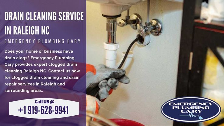 Drain Cleaning Raleigh NC, Clogged Drain Repair Plumbing