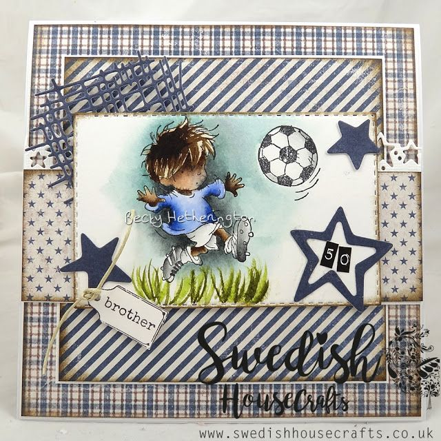 A Card For A Man using Denim & Friends   By Becky - Swedish House Crafts