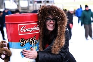 Campbell's brought some warmth outdoors with an OOH activation during March break.