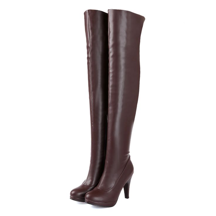 >> Click to Buy << Sales Hot Fashion Sexy Black Brown Women Over The Thigh Knee High Boots Ladies  High Heels Shoes A580B Plus Big size 4 12 47 #Affiliate