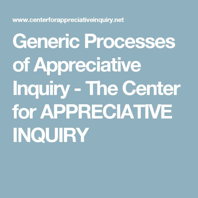 The 11 best coachingconsulting blog images on pinterest generic processes of appreciative inquiry the center for appreciative inquiry fandeluxe Gallery