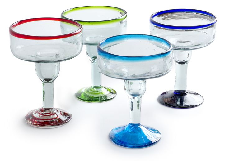 Coupette Margarita Glasses! Each glass is a unique expression of substance, warmth, and individuality. Made with Planet Friendly Recycled Glass