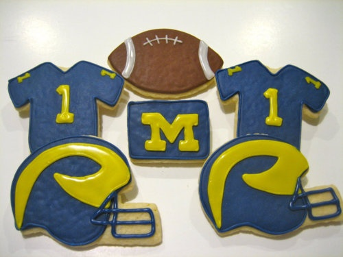 michigan football sugar cookies