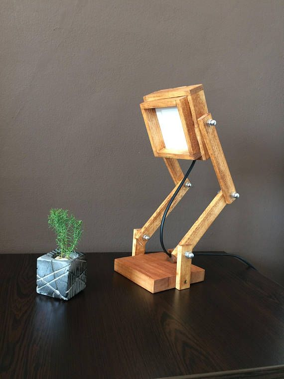 Robot LampWood LampDesk LampOfficeTable LampWooden