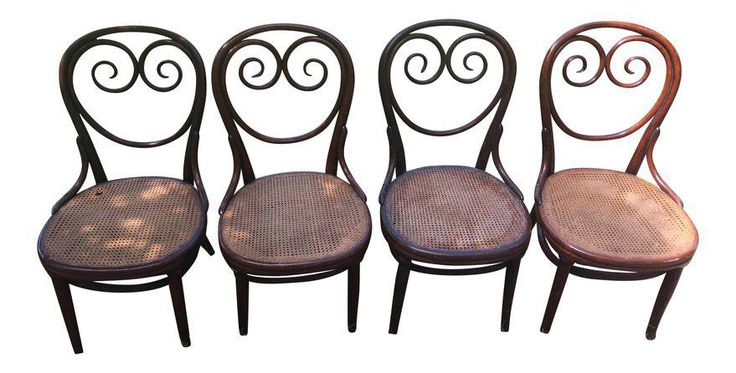 Thonet Cafe Bentwood Chairs - Set of 4 on Chairish.com