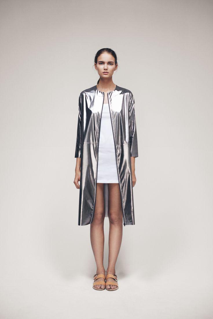 Iro Coat and Short Takota Dress   Samuji SS15 Seasonal Collection
