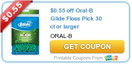 Coupon $0.55 off Oral-B Glide Floss Pick 30 ct or larger http://azfreebies.net/coupon-0-55-off-oral-b-glide-floss-pick-30-ct-or-larger/