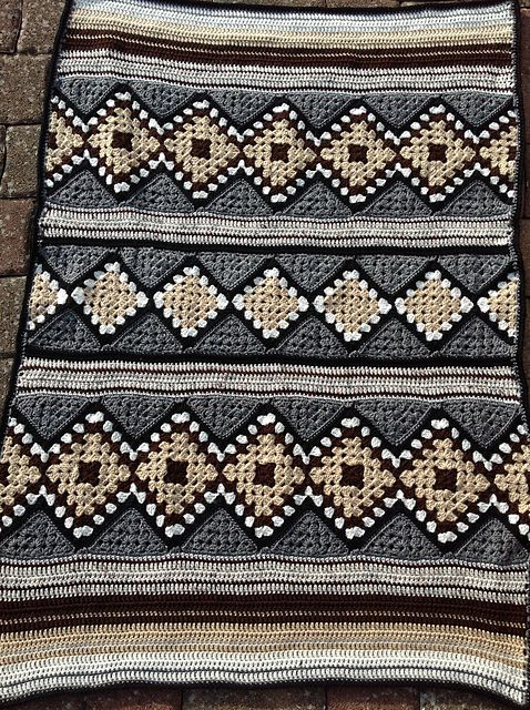 Crochet Pattern Southwestern Afghan : 17 Best images about Native American Indian Blanket ...