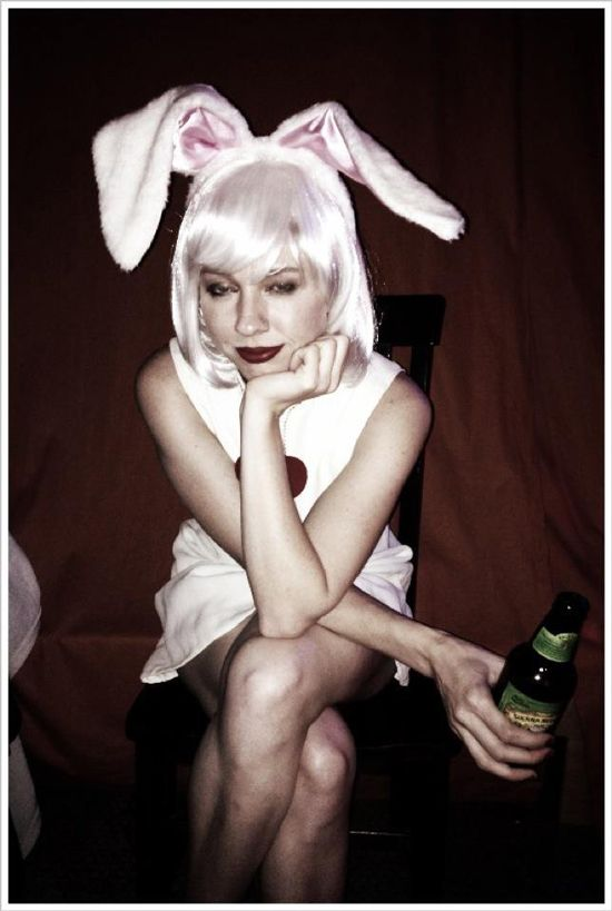 I expect drunk white rabbits, they'd show up late most likely. Pssh.