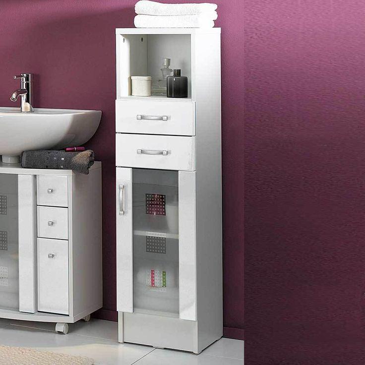 Die besten 25+ Badezimmerschrank weiß Ideen auf Pinterest - badezimmer hochschrank 40 cm breit
