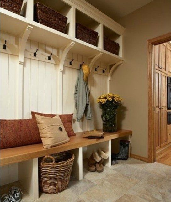 A Necessary Bench: 20 Inspiring Mud Rooms We Love -