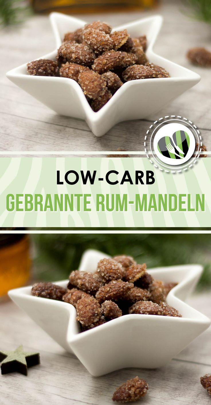 Die gebrannten Rum-Mandeln sind zuckerfrei, low-carb und auch noch glutenfrei.