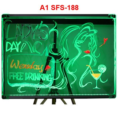 Taiwan LED Writing Board  SFS-188A1  this includes (4) window marker pens Size: H 60cm x W 49cm x D 0.6mm  For more details please visit us at www.fansdigital.com