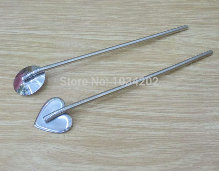 Fashion Hot Bar hotel supplies multifunctional stainless steel spoon drinking fruit straw stirring rod  #FXH53