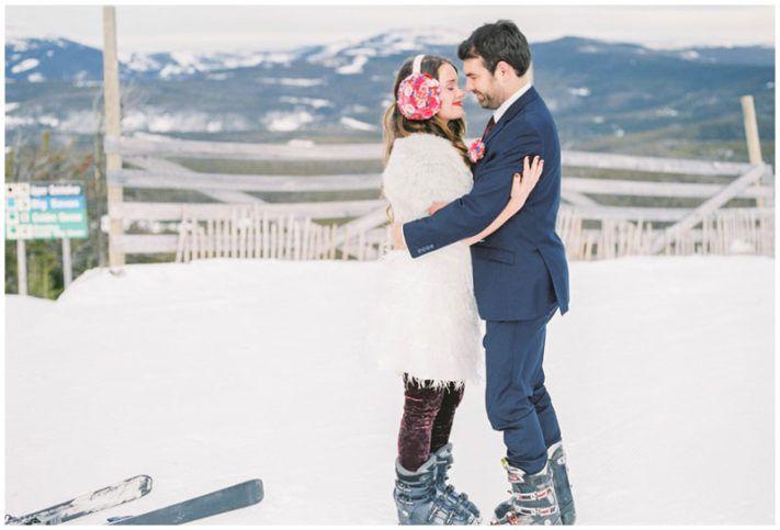 Montana Ski-Inspired Engagement - Smitten Magazine | Smitten Magazine