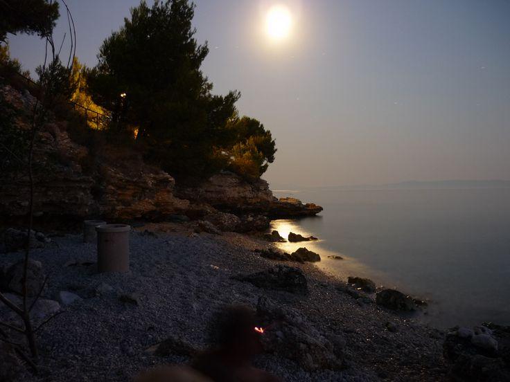 """Baška Voda, Baško Polje, Chorvatsko 2009, """"naše pláž"""""""